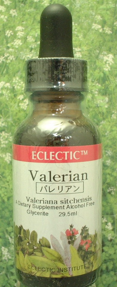 Herbs: 10% tincture Kanoko grass ( Valerian ) Eclectic company