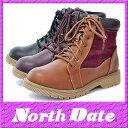 防寒 カジュアル スノーブーツ スパイク NORTH DATE 冬ノースデイト 7070 冬靴 雪【RCP】