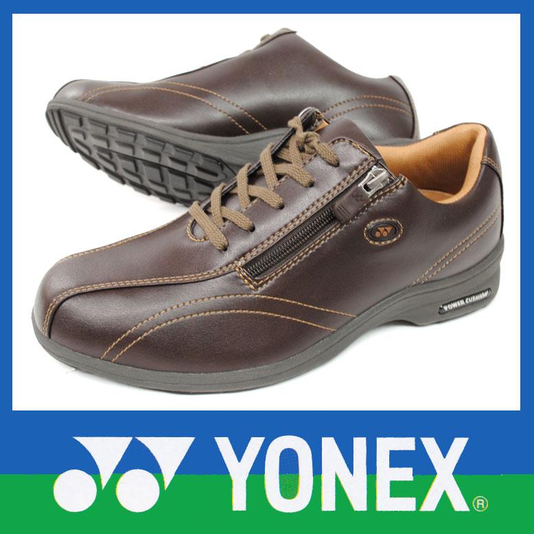 【送料無料】YONEX ヨネックス レディースウォーキングシューズ LC30ダークブラウン パワークッション【RCP】 10P03Sep16 【超軽量195g(23.0cm)】軽い疲れにくいYONEXパワークッションウォーキングシューズ