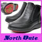 【送料無料】防寒 カジュアル スノーブーツ スパイク NORTH DATE 5E 冬ノースデイト 8917 ブラック 雪【RCP】 05P03Dec16
