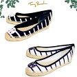 トリーバーチ バレエ・フラットシューズ TORY BURCH 11158670 STRIPED T-SHIRT BALLET ESPADRILLE