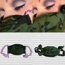 ショッピング洗えるマスク carreaux paris 迷彩柄マスク 立体マスク カモフラ 洗えるマスク リボンマスク 布マスク 冬マスク レディース メンズ フランス製 ピンク おしゃれ