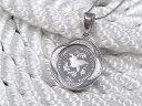 純銀1/20オンス イルカ ラッセンコインペンダント 2004年限定品【ネックレス付き】【送料無料】【英国造幣局製造】