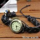 腕時計 レディース レザーブレスレット リーフチャーム付き ...