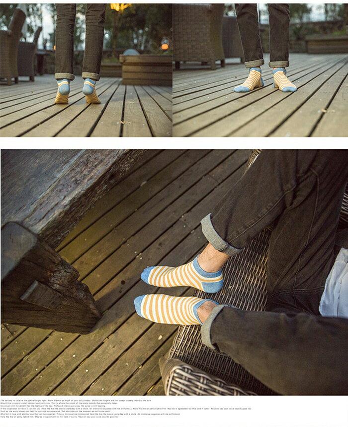 メンズ 靴下 ボーダーソックス 紳士 靴下 カ...の紹介画像3