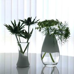 DROP&RIPPLE フラワーベース【2色】【2個セット】ホワイトは8月中旬入荷予定【MIRAGE-STYLE】 花器/花瓶 /ガラス花器/ガラス/モダン/カーキ/ホワイト/白/かわいい/おしゃれ/オシャレ/プレゼント/贈り物 vase