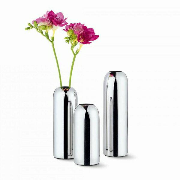 【PHILIPPI】Mila ベース フラワーベース 花瓶 ステンレス【サイズL】【MIRAGE-STYLE】240007 L PL vase