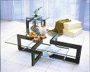 ガラスリビングテーブル YG-17 W1300xD800【interior送料無料】配送時間指定不可