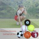 運動元素ゴルフボールセット ゴルフボール ゴルフ用品 ゴルフボールセット6個入り