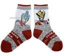 【新製品】ウルトラマン《16〜18cm》左右を見分けよう!編み分け靴下【ビクトリー&ギンガ:赤】
