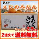★NEW驚異の2.5kgクーポンで735円!えひめみかん2L...