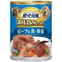 愛犬元気缶 味わいと健康プラス ビーフ&魚・野菜 375g