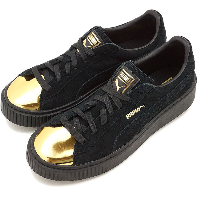puma creepers black gold. Black Bedroom Furniture Sets. Home Design Ideas