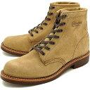 チペワ 6インチ ユーティリティ スエードブーツ CHIPPEWA メンズ 革靴 6-inch utility suede boots Dワイズ カーキ (CP1901G27)【コンビニ受取対応商品】