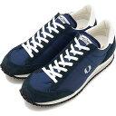 【即納】FRED PERRY フレッドペリー 日本製 スニーカー 靴 レディース VINSON NYLON ヴィンソン ナイロン NAVY (F29614-01 FW17)【コンビニ受取対応商品】