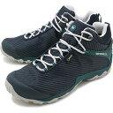 【即納】メレル MERRELL メンズ カメレオン7 ストーム ミッド ゴアテックス M CHAMELEON7 STORM MID GORE-TEX 完全防水 アウトドア トレッキングシューズ 靴 NAVY/TEAL [38561 FW18]