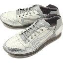 トップセブン TOP SEVEN メンズ パンチングレザー TS-5513 カジュアル スニーカー 靴 WHT/SIL ホワイト系 [EF2508 SS18]
