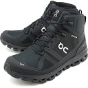 On オン スニーカー クラウドロック ウォータープルーフ M Cloud Rock Waterproof [23.99854 FW19] メンズ 防水 ミッドカット トレッキングシューズ 靴 オールブラック ブラック系