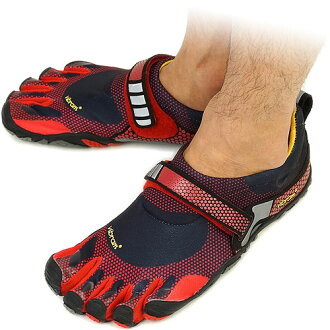 Vibram FiveFingers Vibram five fingers men's BIKILA Black/Red Vibram five fingers five finger shoes barefoot ( M3483 ) fs3gm