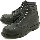 【返品サイズ交換可】レッドウィング スーパーソール 6インチ モックトゥ ワークブーツ 8133 REDWING SUPER SOLE 6 MOC-TOE BLACK-CHROME 靴 【コンビニ受取対応商品】