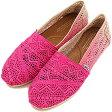 【即納】TOMS トムスシューズ レディース スニーカー WOMENS SEASONAL CLASSICS シーズナル クラシック スリップオン Fuschia Dip-Dyed Crochet(10001372 SS14)【s】
