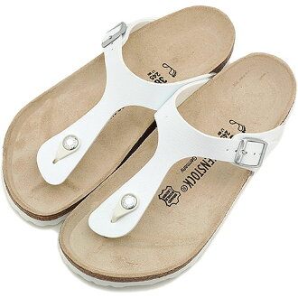 BIRKENSTOCK Birkenstock Womens mens GIZEH sandal guise BF White ( 043731 )
