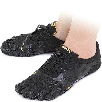 5部Vibram FiveFingers口水巾羊羔五手指分歧D的KSO EVO Black口水巾羊羔五手指的手指鞋提高基本工資脚(14W 0701)