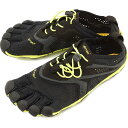 Vibram FiveFingers ビブラムファイブフィンガーズ メンズ V-Run Black/Yellow ビブラム ファイブフィンガーズ 5本指シューズ ベアフット靴 (16M3101)【コン