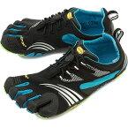 Vibram FiveFingers ビブラムファイブフィンガーズ メンズ KMD Sport LS Black/Blue/Green ビブラム ファイブフィンガーズ 5本指シューズ ベアフット(16M3701)【コンビニ受取対応商品】
