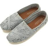 【即納】トムス シューズ レディース スリッポン TOMS SHOES WOMENS SEASONAL CLASSICS Silver Crochet Metallic (10008028 SS16)