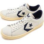 コンバース プロレザー ローカット CONVERSE PRO-LEATHER OX ホワイト/ネイビー 靴 [32649540 SS17][s]