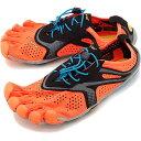 Vibram FiveFingers ビブラムファイブフィンガーズ メンズ ランニングモデル MNS V-RUN ORANGE ビブラム ファイブフィンガーズ 5本指シューズ ベアフット 靴 [17M7002]