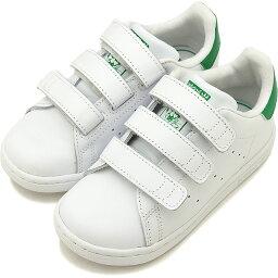 【13〜16.5cm】adidas アディダス スニーカー 靴 キッズ オリジナルス STAN SMITH CF I <strong>スタンスミス</strong> コンフォート <strong>ベルクロ</strong> インファント Rホワイト/Rホワイト/グリーン [BZ0520 SS18]