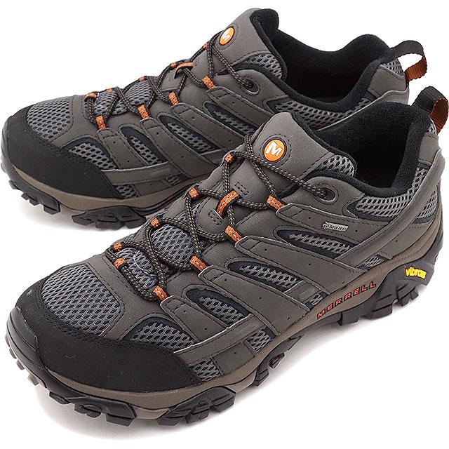 MERRELL メレル メンズ スニーカー 靴 MEN MOAB2 GORE-TEX WIDE WIDTH モアブ2 ゴアテックス ワイドワイズ BELUGA (06039W SS18)【コンビニ受取対応商品】