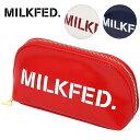 【即納】【メール便可】MILKFED. ミルクフェド LOGO POUCH ロゴ ポーチ (3181017 SS18)【コンビニ受取対応商品】
