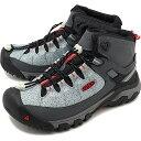 【コラボ】キーン × フジロック KEEN × FUJIROCK メンズ ターギー EXP ミッド M TARGHEE EXP MID SP WP ハイキング トレッキングシューズ アウトドア 靴 STONE/FIRE RED グレー系 [1021804 FW19]