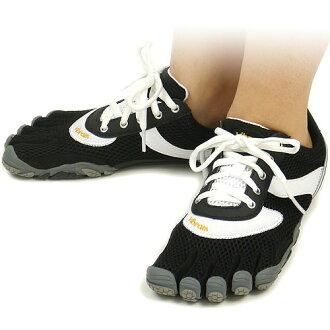 Five Vibram FiveFingers Vibram five fingers men's & women's SPEED Black/White/Black Vibram fingers five finger shoes barefoot ( W368 ) fs3gm