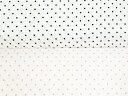 売り尽くしセール【幅広】【スムースニット生地】白地の小さめ水玉【ドット/ベビー用品/スタイ/赤ちゃん】