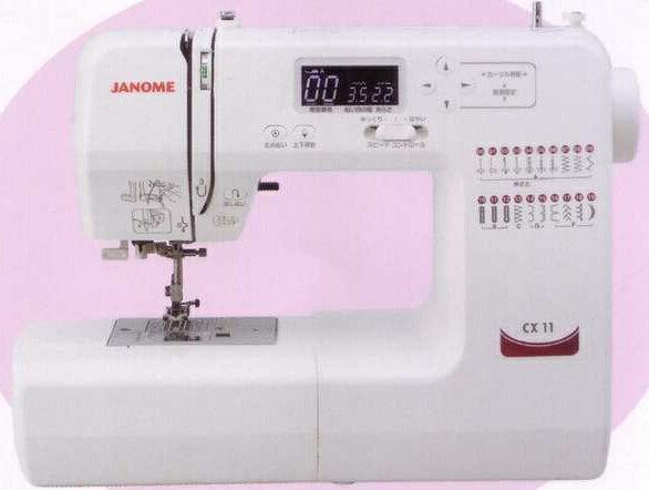 【送料無料】ジャノメミシン(JANOME)蛇の目コンピュータミシン CX-11≪純正黒色フットコントローラー付き≫
