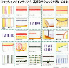 ジューキべビ-ロック衣縫人4本糸ロックミシンBL57EX型