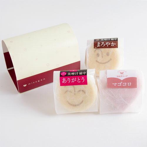 美噌汁最中ありがとう、マゴコロ入り 3個箱 【楽...の商品画像
