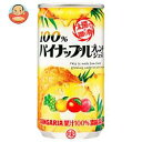 サンガリア 100% パイナップルブレンドジュース 190g缶×30本入