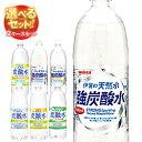 【送料無料】サンガリア 伊賀の天然水 炭酸水 選べる2ケースセット 1Lペットボトル×24(12×2)本入 ※北海道・沖縄は別途送料が必要。