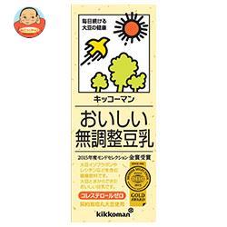 【送料無料】【2ケースセット】キッコーマン(紀文) おいしい無調整豆乳 200ml紙パック×18本入×(2ケース) ※北海道・沖縄は別途送料が必要。