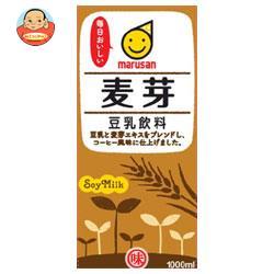 マルサンアイ 豆乳飲料 麦芽 1000ml紙パック×12(6×2)本入