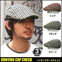 ハンチング帽メンズチェックベルト付き帽子レディース男女兼用ゴルフスポーツシーンに!