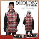 【即納】14-15 HOLDEN (ホールデン) THE VARSITY JACKET -BLACK/RED PLAID- 50%OFF割引セール (ウェア) 【日本正規品】【送料無料】【smtb-k】【ky】 align=