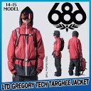 【即納】14-15 686/SIX EIGHT SIX (シックスエイトシックス) Limited Gregory Tech Targhee Jacket 50%OFF割引セール (スノーボードウ..