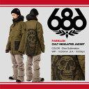 【即納】16-17 686/SIX EIGHT SIX (シックスエイトシックス) Parklan Cult Insulated Jacket -Olive Sublimation- 早期割引25%OFF (スノーボードウェア) 【送料無料】【代引手数料無料】【smtb-k】【ky】