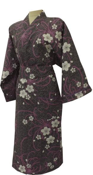 浴衣生地のガウン 桜に乱菊 40枚セット【室内着】【ガウン】【ルームウェア】